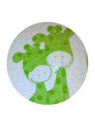 Obrazek Kocyk dziecięcy ŻYRAFA Zielona 80/20