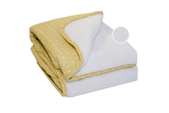 Obrazek PlusBaby Kocyk GWIAZDKI żółte/biały