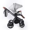 Obrazek Invictus V-Plus wózek 01 jasnoszary/brąz