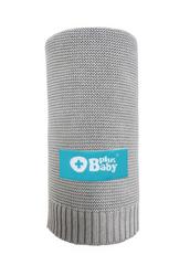 Obrazek PlusBaby Kocyk bambus- bawełna 80x100 cm szary