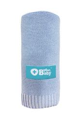 Obrazek PlusBaby Kocyk bambus- bawełna 80x100 cm niebieski
