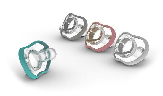 Obrazek NanoBebe Smoczek uspokajający Flexy - 3 m+ - 2 szt. - biały