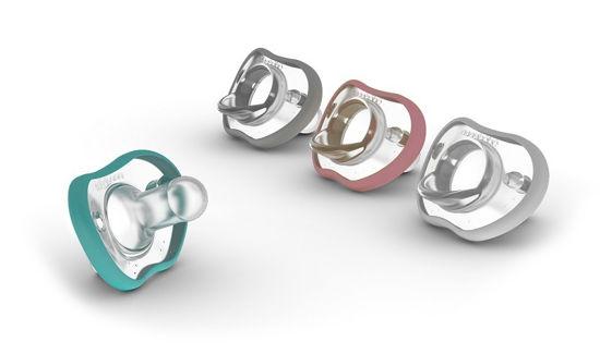 Obrazek NanoBebe Smoczek uspokajający Flexy - 3 m+ - 2 szt. - różowy